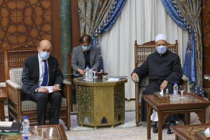 Isi Lengkap Pertemuan Grand Syekh Al-Azhar dan Menteri Luar Negeri Perancis
